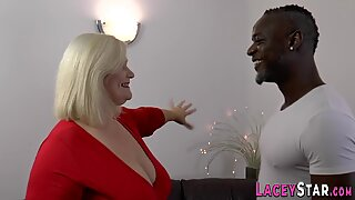 Busty granny Lacey Starr gets ass fucked